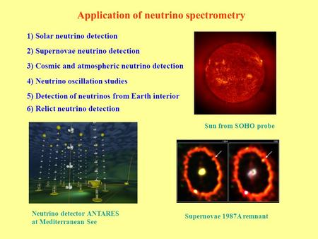 Application of neutrino spectrometry