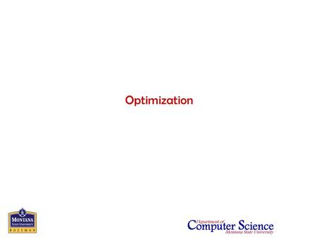 Optimization. CS352 - Software Engineering (AY2005)2 Introduction Optimization has goals that may appear to run counter to good software engineering practices.