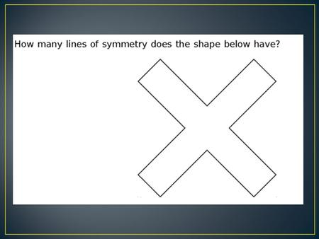 parallel lines never touch Make 90° angles (paper can fit in the corner)
