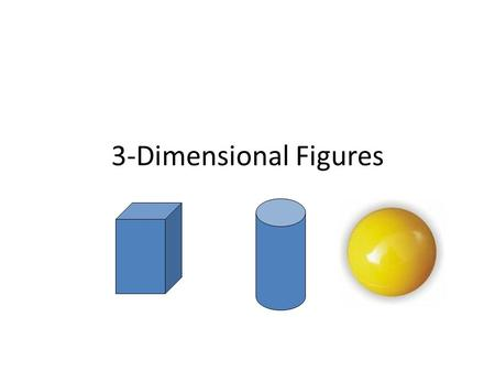 3-Dimensional Figures. Prisms – Two parallel bases – Named after the shape of its base – All other faces are rectangles Rectangular Prism Triangular Prism.