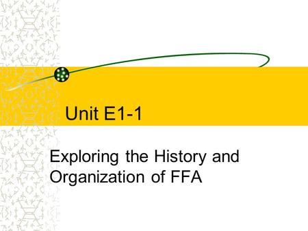 Exploring the History and Organization of FFA