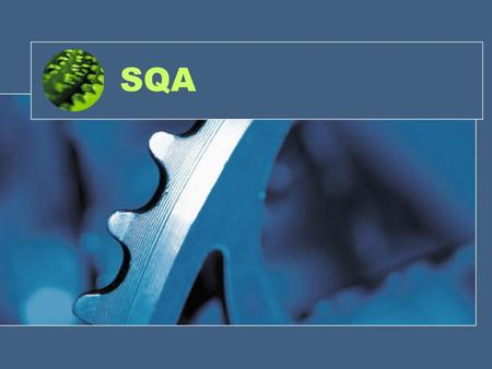 SQA. 2 Software Quality Assurance What is Software Quality assurance(SQA)? Quality Concepts. Software Quality Assurance Activities. Software Reviews and.