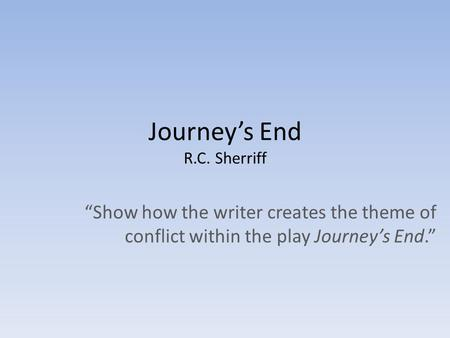 analysis theme of play in journey s The play's epilogue,  but wait--it's an allegorical journey,  everyman & company: essays on the theme and structure of the european moral play.