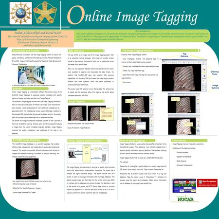 A radiologist analyzes an X-ray image, and writes his observations on papers  Image Tagging improves the quality, consistency.  Usefulness of the data.