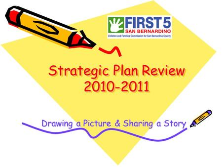 Strategic Plan Review 2010-2011 Drawing a Picture & Sharing a Story.