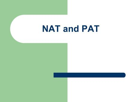NAT and PAT. Topics RFCs 1597(obs by 1918), 1631,1917, 1918 & 1797 Network Address Translation – Static and Dynamic Port Address Translation Issues with.