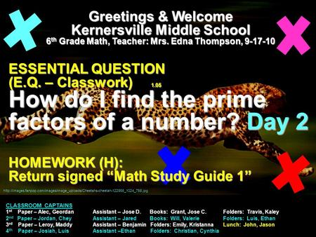 Greetings & Welcome Kernersville Middle School 6 th Grade Math, Teacher: