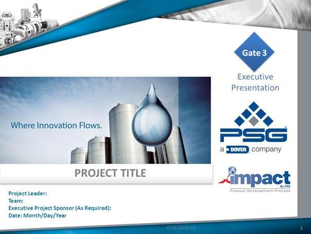 PROJECT TITLE Project Leader: Team: Executive Project Sponsor (As Required): Date: Month/Day/Year 16/25/2015 V2.