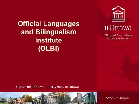 Official Languages and Bilingualism Institute (OLBI)