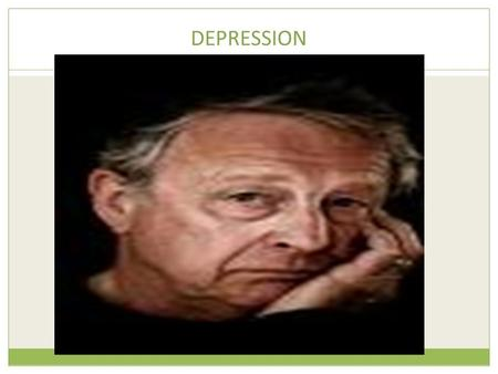 DEPRESSION. Cognitive explanations of depression.
