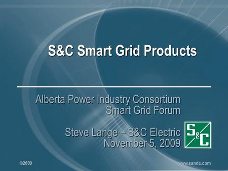 S&C Smart Grid Products
