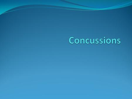 What is a Concussion? Concussions are brain injuries. They are caused by a bump, blow, or jolt to the head. They can range from mild to severe and can.
