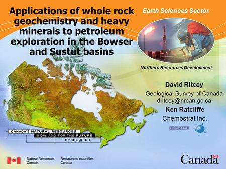 Northern Resources Development Applications of whole rock geochemistry and heavy minerals to petroleum exploration in the Bowser and Sustut basins David.