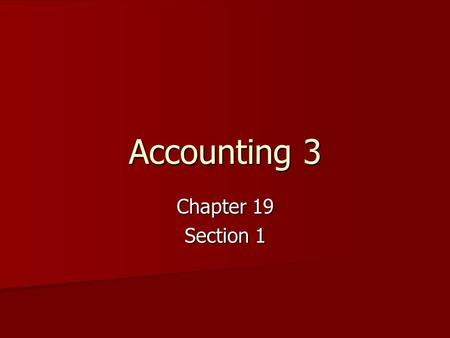Accounting 3 Chapter 19 Section 1. Sales Journal This journal is used only to record sales of merchandise on account. This journal is used only to record.