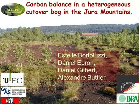 Carbon balance in a heterogeneous cutover bog in the Jura Mountains. Estelle Bortoluzzi, Daniel Epron, Daniel Gilbert, Alexandre Buttler.