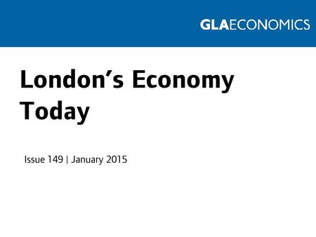 London's Economy Today Issue 149 | January 2015. Moving average of passenger numbers Source: Transport for London.