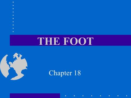 THE FOOT Chapter 18.