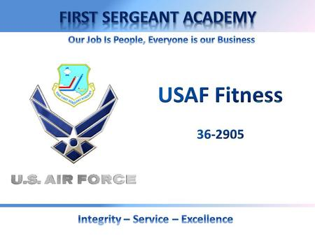 Fitness Intent Unit Responsibilities Air Force Instruction Nutritional Education 2.