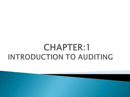  Definition of a quality Audit  Types of audit  Qualifications of quality auditors  The audit process.