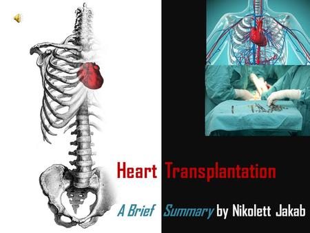 Heart Transplantation A Brief Summary by Nikolett Jakab.