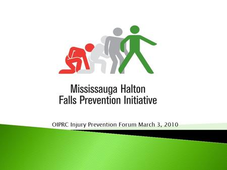 OIPRC Injury Prevention Forum March 3, 2010.  Mississauga Falls Prevention Initiative  Funded projects  Lessons learned  Recommendations.