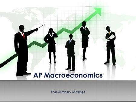 AP Macroeconomics The Money Market. The market where the Fed and the users of money interact thus determining the nominal interest rate (i%). Money Demand.