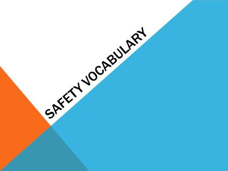 SAFETY VOCABULARY. Goggles – worn to protect eyes Goggle Sanitizer – used to sterilize (clean) goggles.