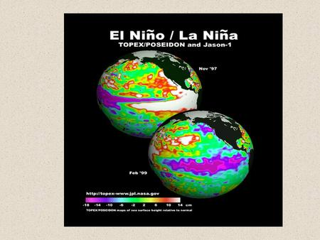 Southern Oscillation- Atmospheric component of ocean's El Niño. Oscillation in the distribution of high and low pressure systems across the equatorial.
