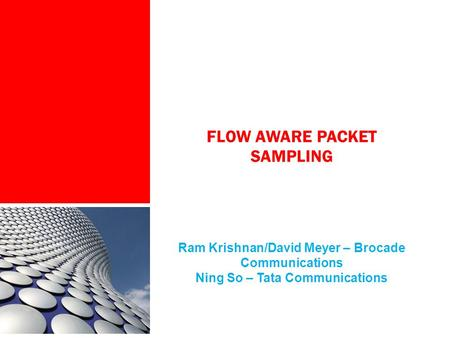 Flow Aware Packet Sampling