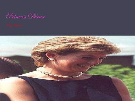 Princess Diana By Ikram. Facts Name –Princess Diana Occupation-Children activist {Princess} Birth-July 1 1961 Death-August 31 1997 Education-Riddleworth.