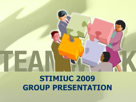 STIMIUC 2009 GROUP PRESENTATION. Suggestion for the improvement of the program 1. Coordination and provision for assistance for flight delays, utensils,