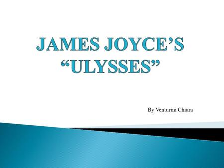 "By Venturini Chiara.  As suggested by the title, ""Ulysses"" by Joyce is related to Homer's epic, which is about Odysseus and his travels after the Troian."
