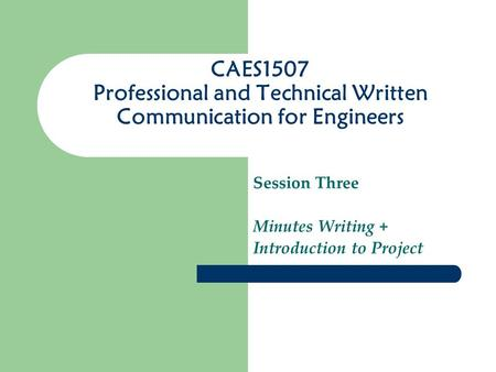 Professional and Technical Writing/BS