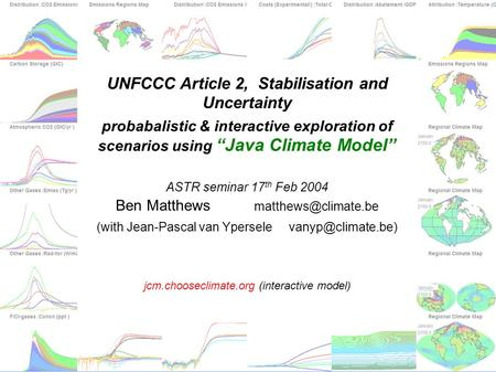 jcm.chooseclimate.org UNFCCC Article 2, Stabilisation and Uncertainty probabalistic & interactive.