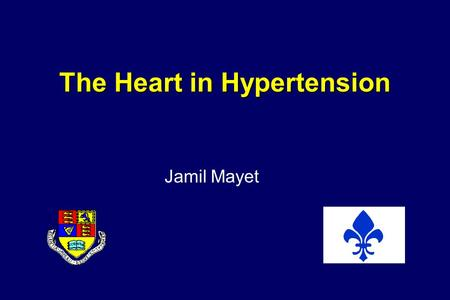 The Heart in Hypertension Jamil Mayet. Left Ventricular Hypertrophy - a historical perspective Association between renal disease and LVH –Richard Bright.
