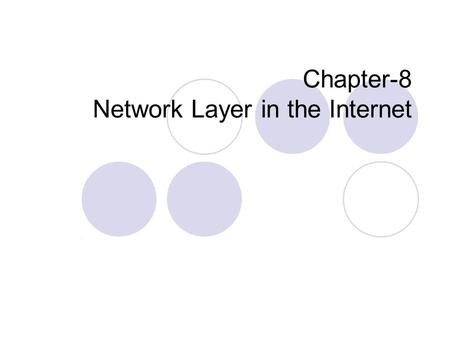 Chapter-8 Network Layer in the Internet. IP Protocol: IP V4 At network layer, internet can be viewed as a collection of sub-networks or Autonomous Systems.