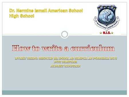 Header includes Dr. Nermine Ismail American School High School Department Grade Scholastic year (2008/2009)