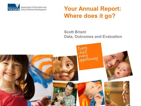 Your Annual Report: Where does it go? Scott Briant Data, Outcomes and Evaluation.