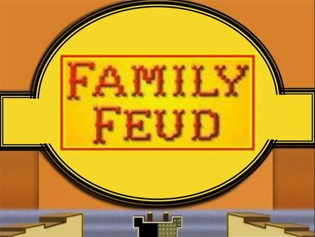 Family Feud  -  Re-Created by Lora O'Neill 4/28/2008,