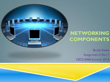 NETWORKING COMPONENTS Buddy Steele Assignment 3, Part 1 CECS-5460: Summer 2014.