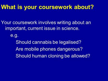 science coursework are mobile phones dangerous