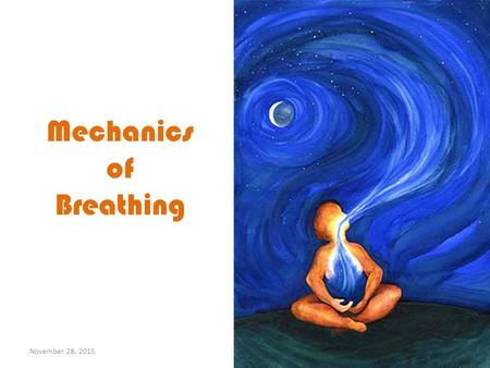 Mechanics of Breathing November 28, 2015. Mechanics of Breathing November 28, 2015.