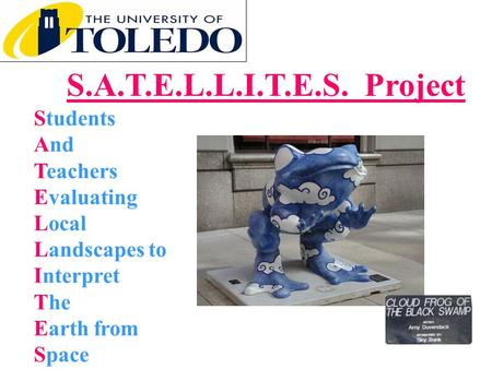 S.A.T.E.L.L.I.T.E.S. Project Students And Teachers Evaluating Local Landscapes to Interpret The Earth from Space Cloud Frog picture, research project name,