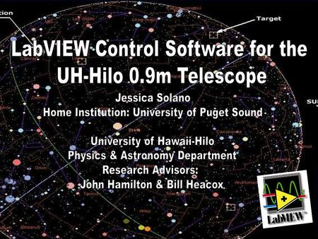 LabVIEW Control Software for the UH-Hilo 0.9m Telescope