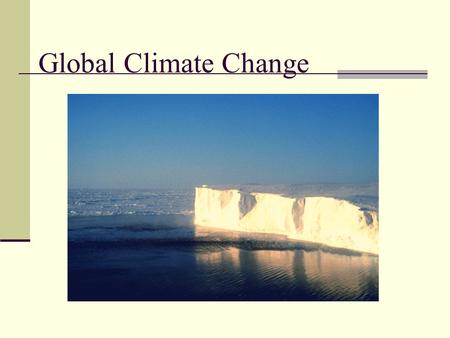Global Climate Change The Evidence and Human Influence Principle Evidence CO 2 and Temperature.