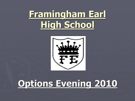 Framingham Earl High School Options Evening 2010.