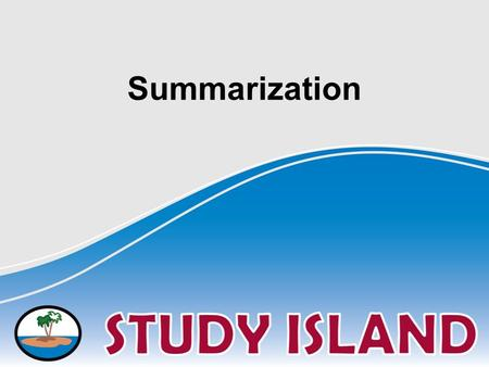 Summarization. A summary is a retelling of a story or passage, in a shorter form than the original. Include only the most important details and events.
