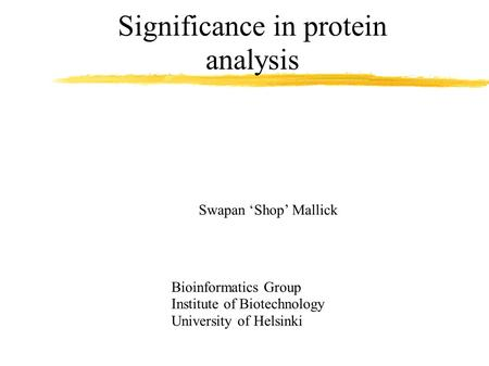 Significance in protein analysis