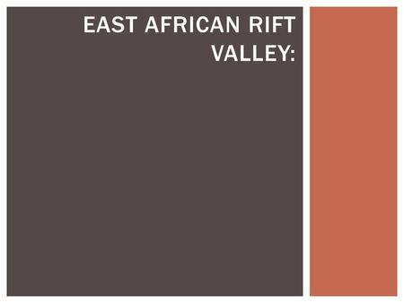 EAST AFRICAN RIFT VALLEY:. STUDY MAIN MAP RIFT VALLEY  1-How many plates can you find here ? (1,2,3,4?)  2-What is the result of these tectonic plate.