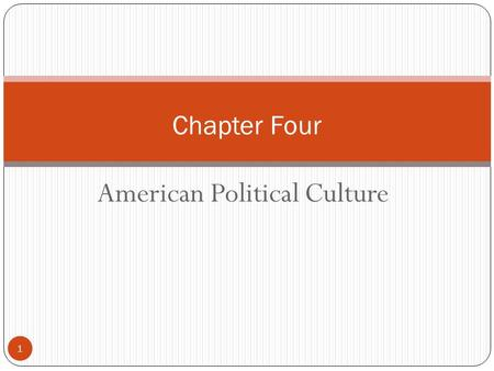 American Political Culture 1 Chapter Four. Culture 2 Politically, there are three main differences among countries: constitutional, demographic, and cultural.